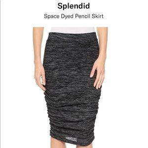 Splendid by Anthropologie Gray ruched Skirt.